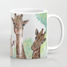 Giraffe's Family Portrait by Maureen Donovan Coffee Mug
