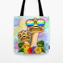 Ostrich Hawaii Fashion Funny Dudes Tote Bag