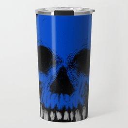 The Blue Skull Travel Mug
