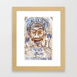 LOS JUEGOS DE MI CONCIENCIA Framed Art Print