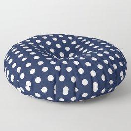 Navy Blue Polka Dots Minimal Floor Pillow