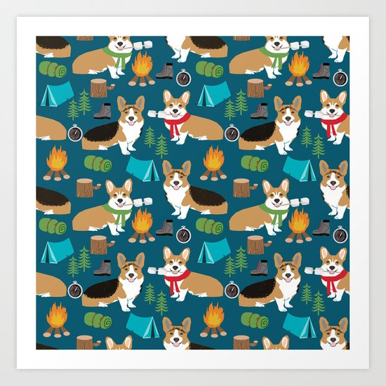 Corgi camping marshmallow roasting corgis outdoors nature dog lovers by petfriendly
