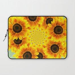 Spinning Sunflowers Laptop Sleeve
