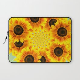 Spinning Sunflowers Laptop Sleeve