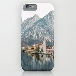 Halstatt Village in the Alps Mountains | Austria Mountain Lake Scenery | Europe Travel Photography iPhone Case