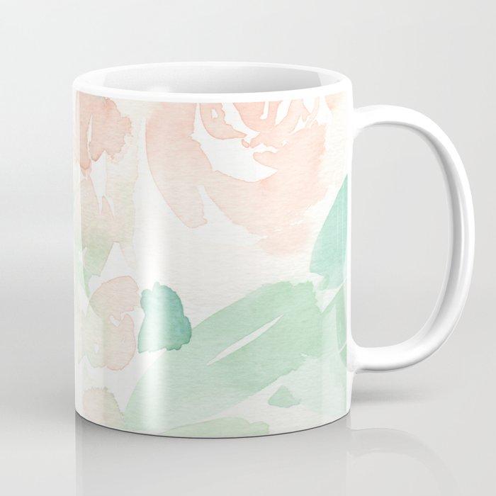 Peach Flowers Coffee Mug