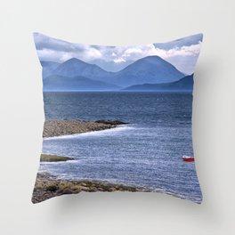 Over the Sea to Skye Throw Pillow