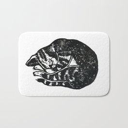 Sleeping Cat - Lino Bath Mat