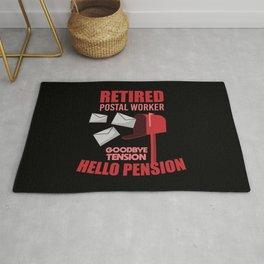 Retired Postal Worker Funny Postman Hello Pension Rug