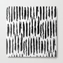 Vertical Dash Black and White Paint Stripes by followmeinstead