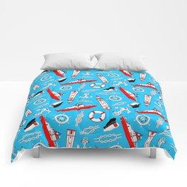 Ship in the Sea Comforters