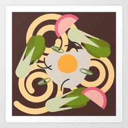 Udon Noodles  Art Print