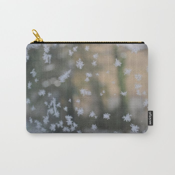 "It's frosty ""Ice Flower"" #2 #art #society6 Carry-All Pouch"