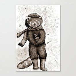 Pumpkin the Red Panda Canvas Print