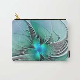 Abstract With Blue 2, Fractal Art Carry-All Pouch