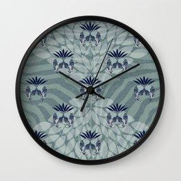 Zebra elephant pattern 2 Wall Clock