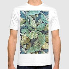 William Morris Herbaceous Italian Laurel Acanthus Textile Floral Leaf Print  T-shirt
