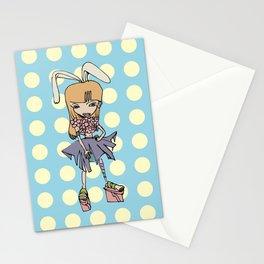 Flower Bunny Girl Stationery Cards