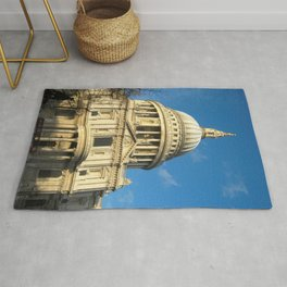 St Pauls Cathedral Blue Sky Sunny Day  Rug