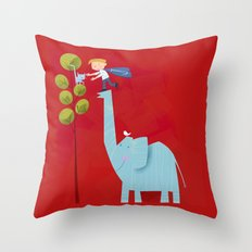 Jacob's Friends Throw Pillow