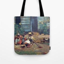 Winslow Homer Sketch of a Cottage Yard Tote Bag