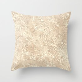 Butterscotch Silk Moire Pattern Throw Pillow
