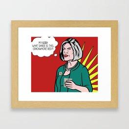 Malory Archer Lichtenstein Framed Art Print