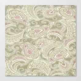batik paisley warm Canvas Print