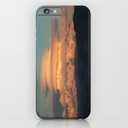 Lenticular Clouds at Sunset on Mount Rainier iPhone Case