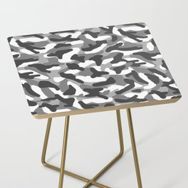 Grey Gray Camo Camouflage Side Table