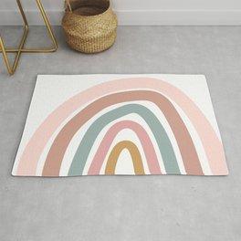Fun simplistic rainbow art Rug