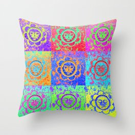 Eternal sunshine of the funky kind Throw Pillow