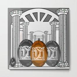 Necropolis Coins Palladium, Platinum and Copper 4 Metal Print