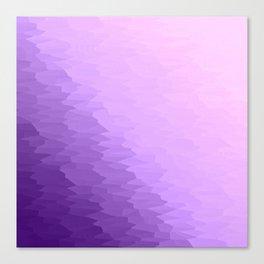 Lavender Texture Ombre Canvas Print