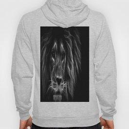 lion.  Black & White Hoody