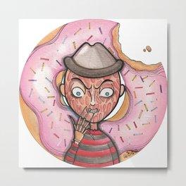 Freddy Doughnut Metal Print