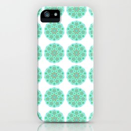 Collage of green madalas iPhone Case