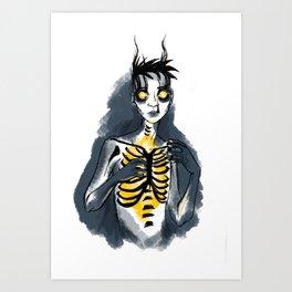 burns deep inside you Art Print