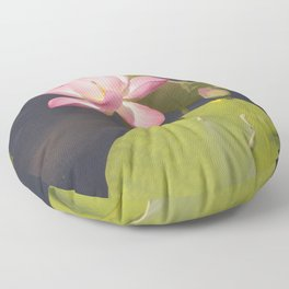 Pink Lotus by Teresa Thompson Floor Pillow