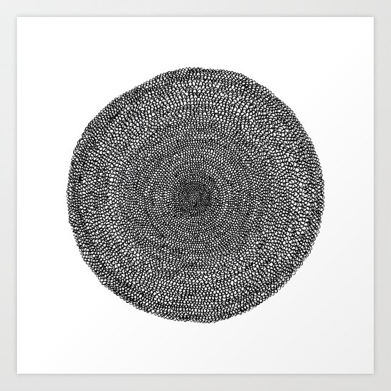 Circle / Semi Circles Art Print