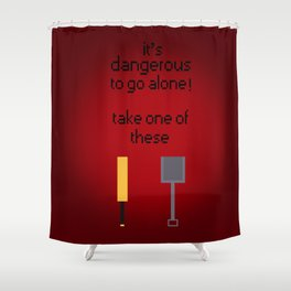 Shaun of the dead - It's dangerous to go alone! Shower Curtain