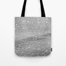 Glitter Silver Tote Bag