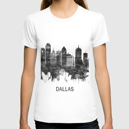 Dallas Texas Skyline BW T-shirt