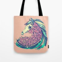 horse Tote Bags featuring Beautiful Horse by Diego Verhagen