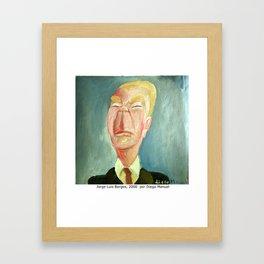 Jorge Luis Borges by Diego Manuel Framed Art Print