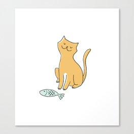 smug cat Canvas Print