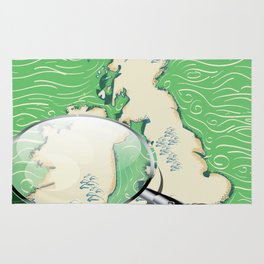 Ireland vintage Style travel poster Rug