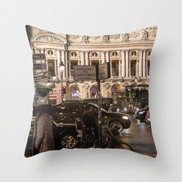 Opera Garnier night Throw Pillow
