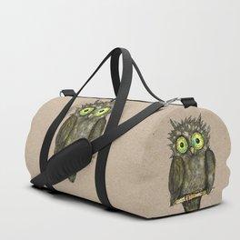 Black little owl Duffle Bag
