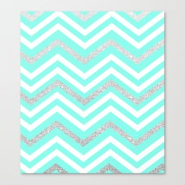 Turquoise Sparkle Canvas Print